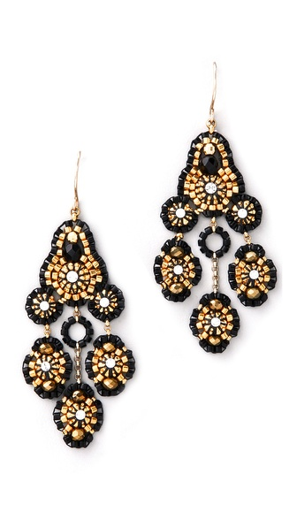 Miguel Ases Pyrite Quartz Swarovski Earrings