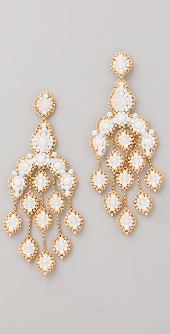 Miguel Ases Opalite Quartz Chandelier Earrings