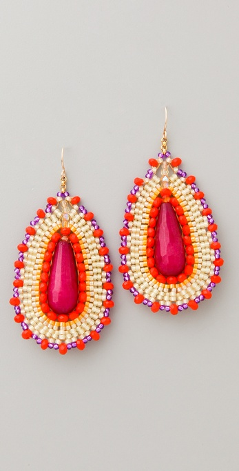 Miguel Ases Pink Jade & Cat's Eye Quartz Earrings