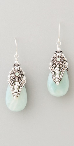 Miguel Ases Amazonite & Crystal Drop Earrings