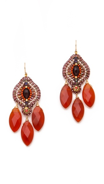 Miguel Ases Carnelian Drop Earrings