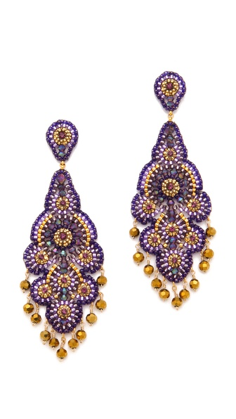 Miguel Ases Crystal Chandelier Earrings