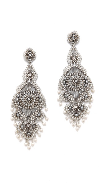 Miguel Ases Pyrite Chandelier Earrings