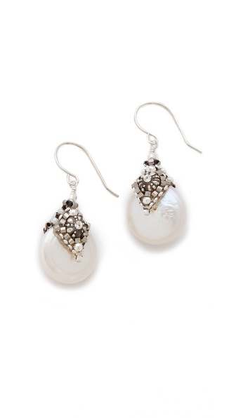 Miguel Ases Water Drop Earrings