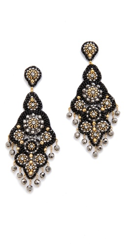 Shop Miguel Ases Crystal Chandelier Earrings and Miguel Ases online - Accessories,Womens,Jewelry,Earring, online Store