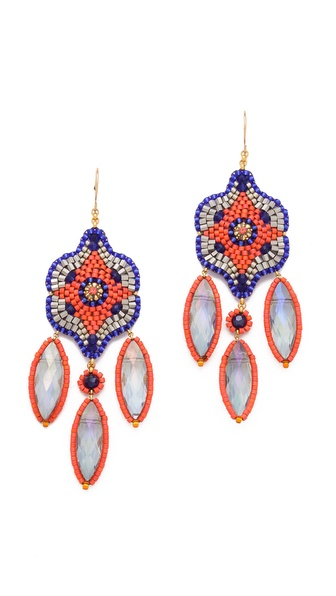 Miguel Ases Rainbow Quartz Chandelier Earrings