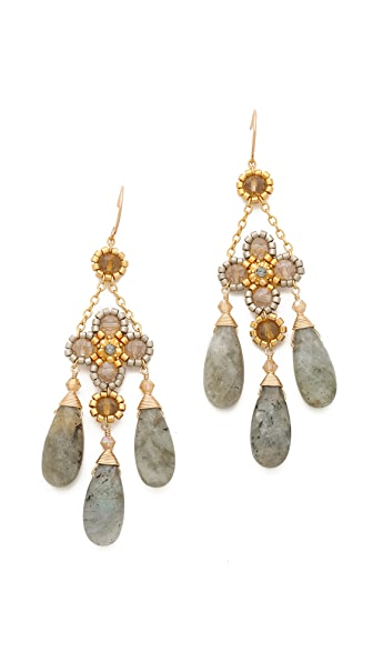 Miguel Ases Chandelier Earrings