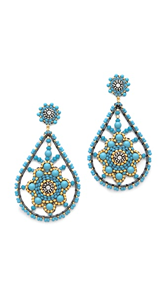 Miguel Ases Teardrop Earrings