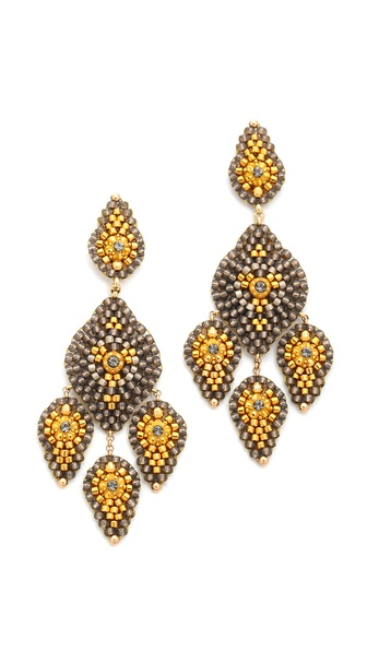 Miguel Ases Trio Tear Drop Earrings