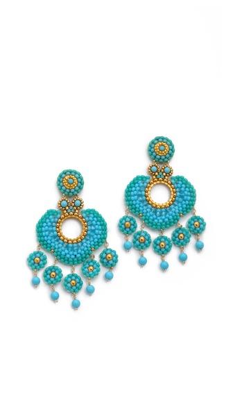 Miguel Ases Five Drop Earrings
