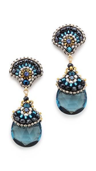 Miguel Ases Aqua Earrings