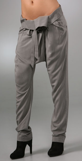 Mason by Michelle Mason Fold Over Pants