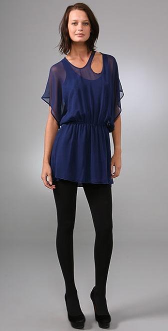 Mason by Michelle Mason Sheer Strap Dress