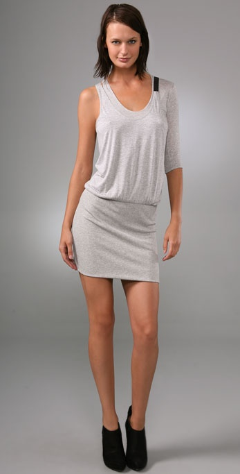 Mason by Michelle Mason Asymmetrical Mini Dress