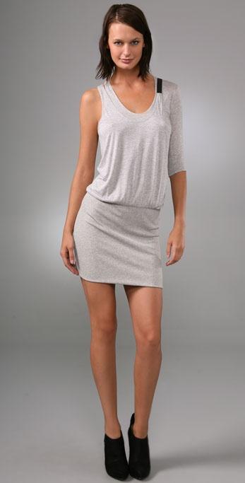 Mason by Michelle Mason Asymmetrical Mini Dress