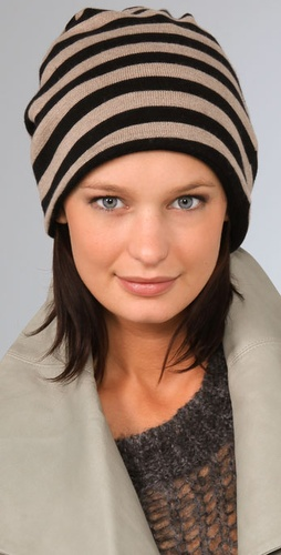 Mason by Michelle Mason Striped Hat / Scarf