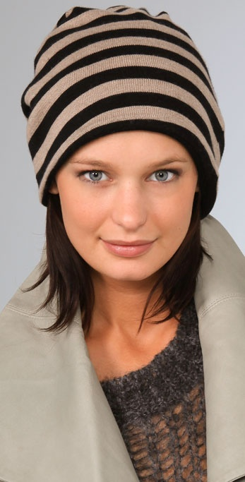 Mason by Michelle Mason Striped Hat / Scarf