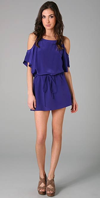Mason by Michelle Mason Open Shoulder Dress