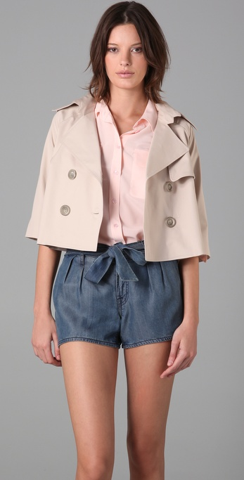 Mason by Michelle Mason Crop Trench Coat