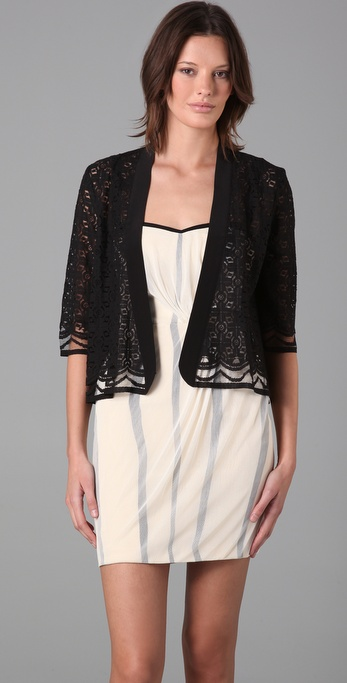 Mason by Michelle Mason Lace Shawl Cardigan