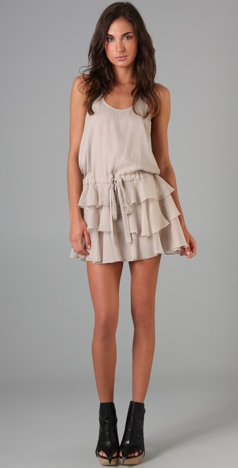 Mason by Michelle Mason Ruffle Tank Dress