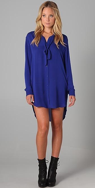 Mason by Michelle Mason Long Shirtdress