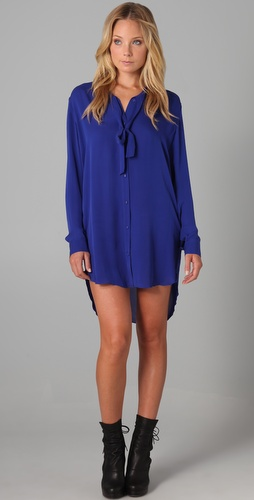 Mason by Michelle Mason Long Shirtdress