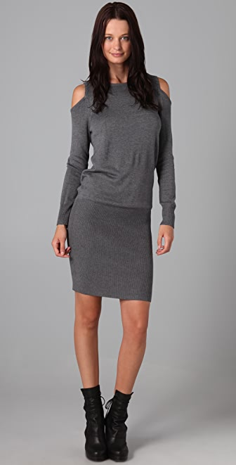 Mason by Michelle Mason Open Shoulder Knit Dress