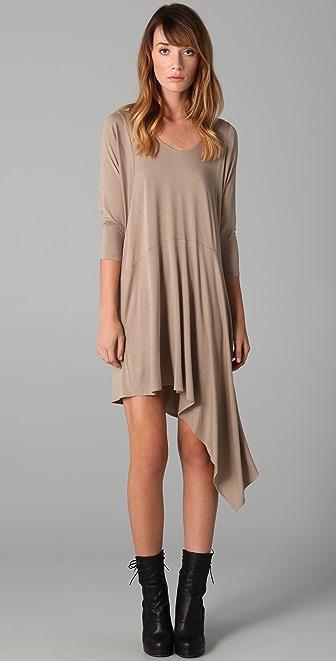Mason by Michelle Mason Long Sleeve Dress with Asymmetrical Hem