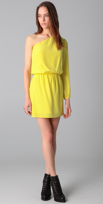 Mason by Michelle Mason Asymmetrical Dress