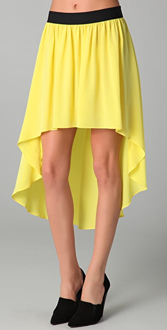 Mason by Michelle Mason Uneven Hem Skirt