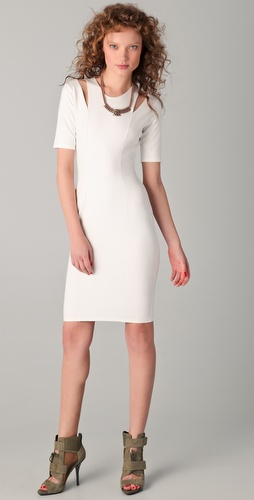 Mason by Michelle Mason Cutout Shoulder Dress