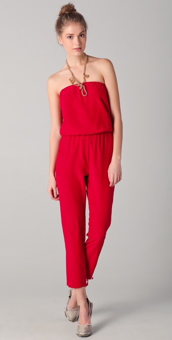 Mason by Michelle Mason Strapless Jumpsuit