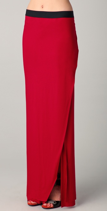 Mason by Michelle Mason Maxi Skirt with Slit