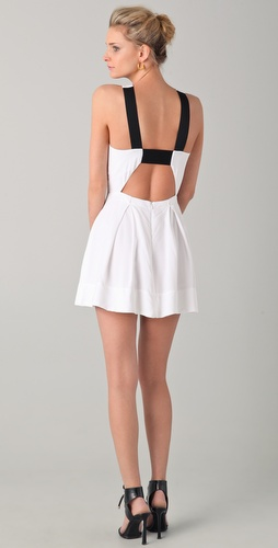 Mason by Michelle Mason Open Back Dress