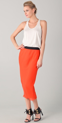 Mason by Michelle Mason Colorblock Tank Maxi Dress