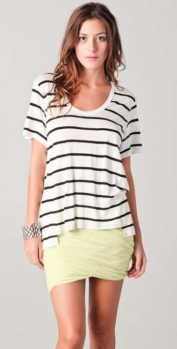 Mason by Michelle Mason Drape Back Tee