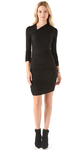 Mason by Michelle Mason Sheer Back Dress