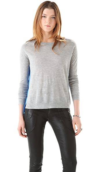Mason by Michelle Mason Cashmere Sweater with Silk Panel