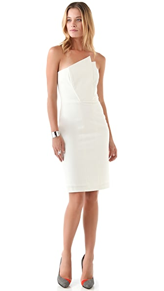 Mason by Michelle Mason Crane Strapless Dress