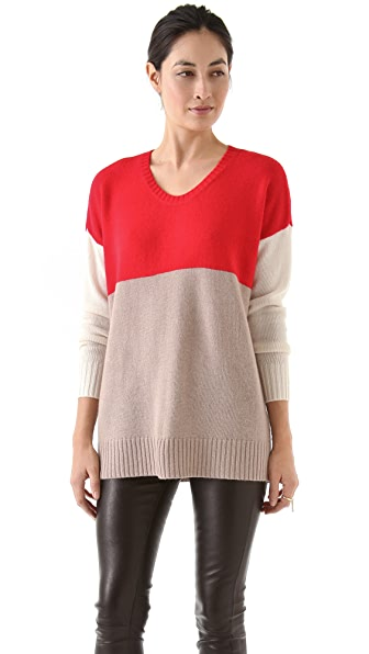 Mason by Michelle Mason Tri-Color Sweater