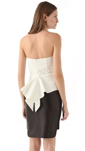 Mason by Michelle Mason Cascade Bustier Peplum Top