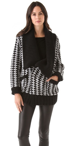 Shop Mason by Michelle Mason Car Coat Cardigan and Mason by Michelle Mason online - Apparel,Womens,Sweaters,Cardigans, online Store
