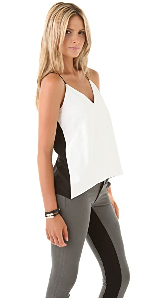 Mason by Michelle Mason Leather Front Camisole