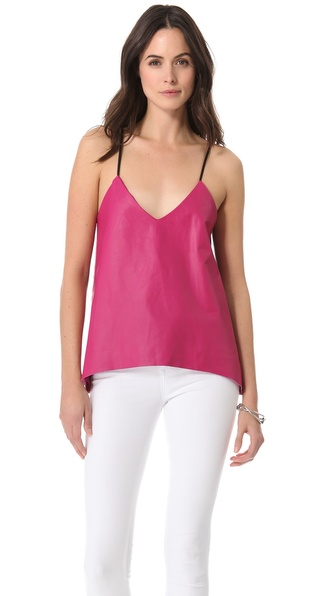 Mason by Michelle Mason Leather Camisole