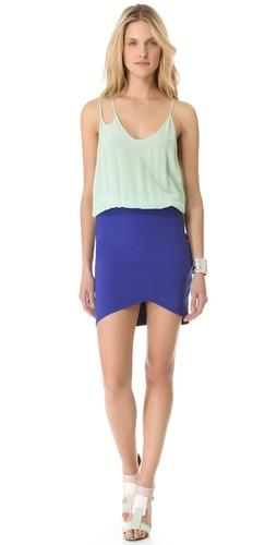 Mason by Michelle Mason Colorblock Strap Dress