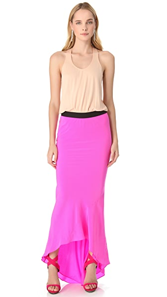 Mason by Michelle Mason Racer Back Maxi Gown