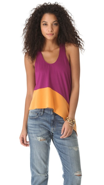 Mason by Michelle Mason Asymmetrical Tank