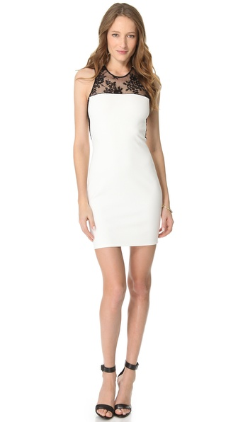 Mason by Michelle Mason Lace Inset Dress