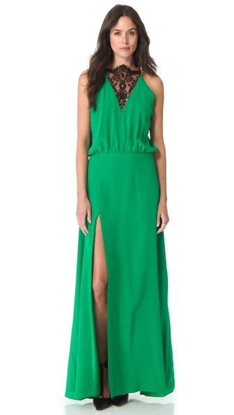 Mason by Michelle Mason Lace Inset Gown